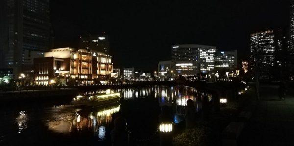 横浜みなとみらい汽車道から見える夜景