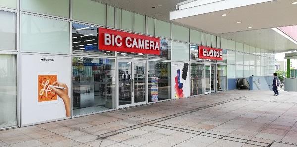 川崎駅西口のラゾーナ川崎内のビックカメラ