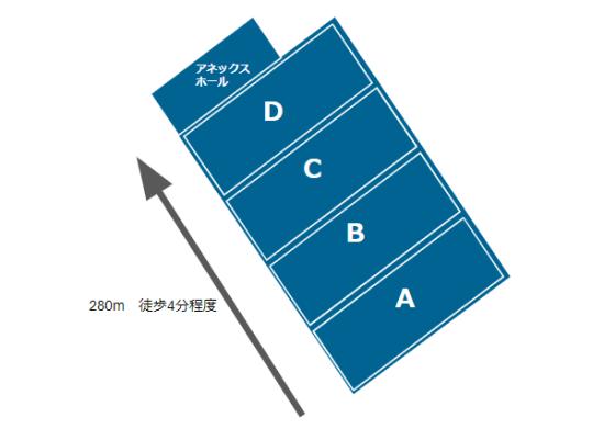パシフィコ横浜の展示ホールmap
