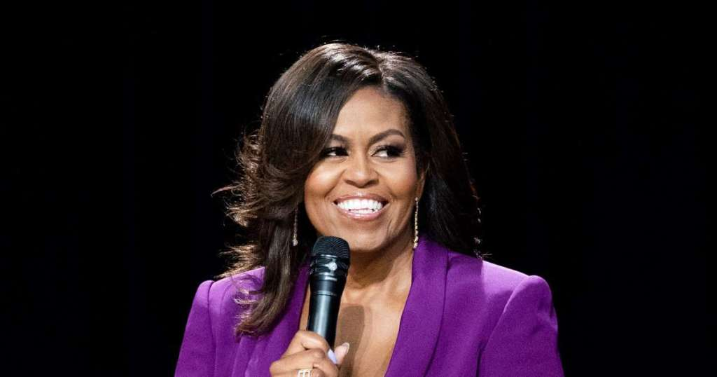 Michelle Obama speaks to NBA WNBA players about how they.img