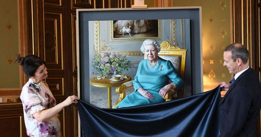 Queen reveals new painting in first virtual portrait unveiling in.img