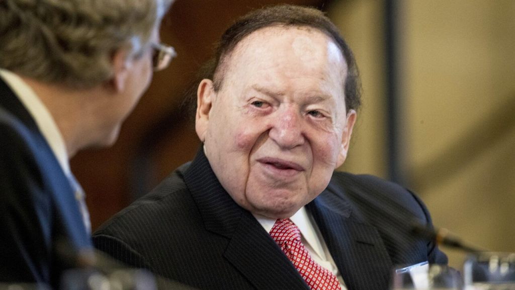 Adelson shells out $75 million to pump up pro-Trump super PAC in final stretch