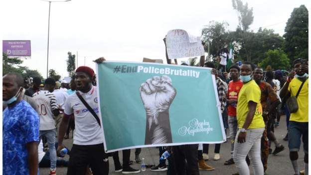 End Sars: Sports stars join protest against police brutality