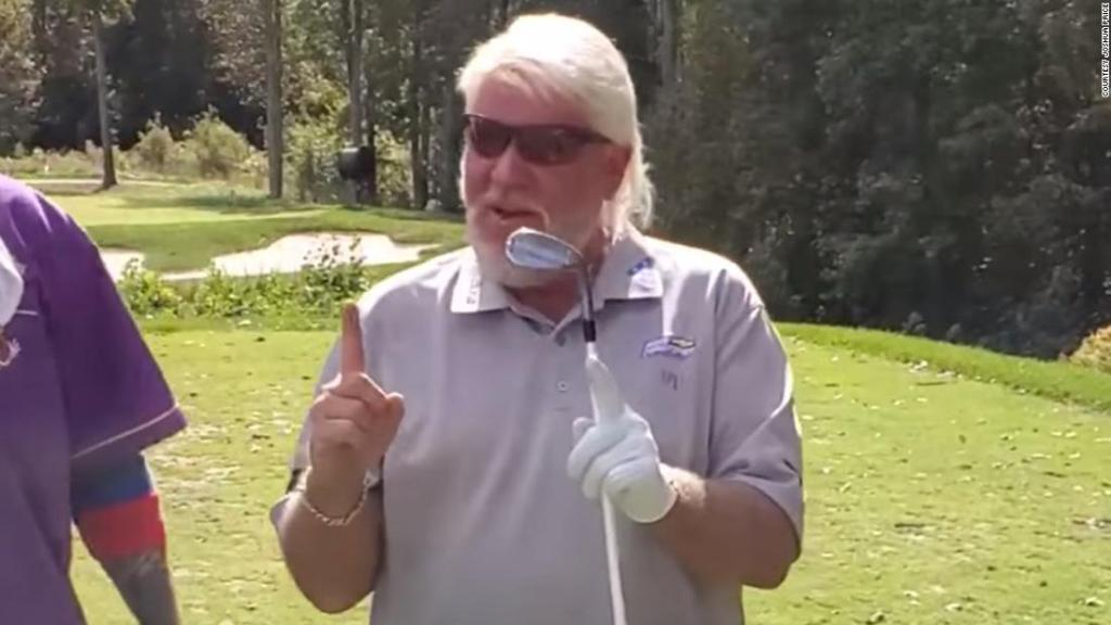 John Daly drained a hole-in-one barefooted at a charity golf tournament
