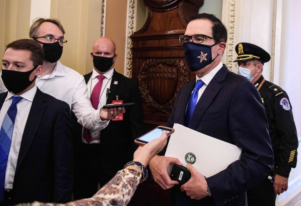Mnuchin says he'll give ground on virus testing in stimulus negotiations with Pelosi