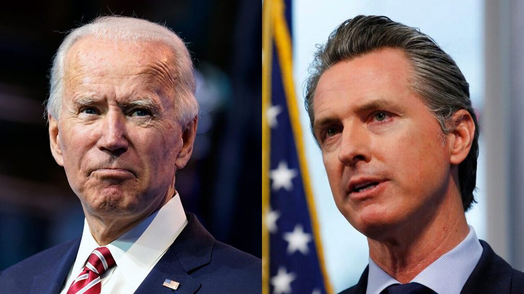 Biden hasn't said anything on Newsom dinner controversy amid COVID-19 spike