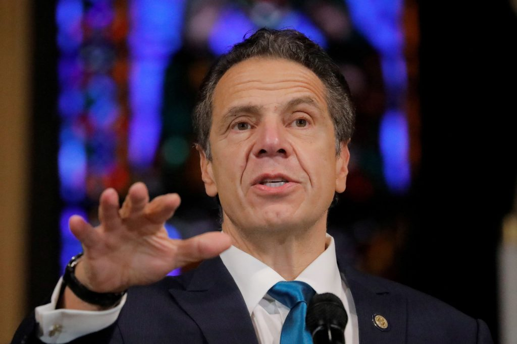 New York Gov. Andrew Cuomo holds a press briefing on Covid as cases climb
