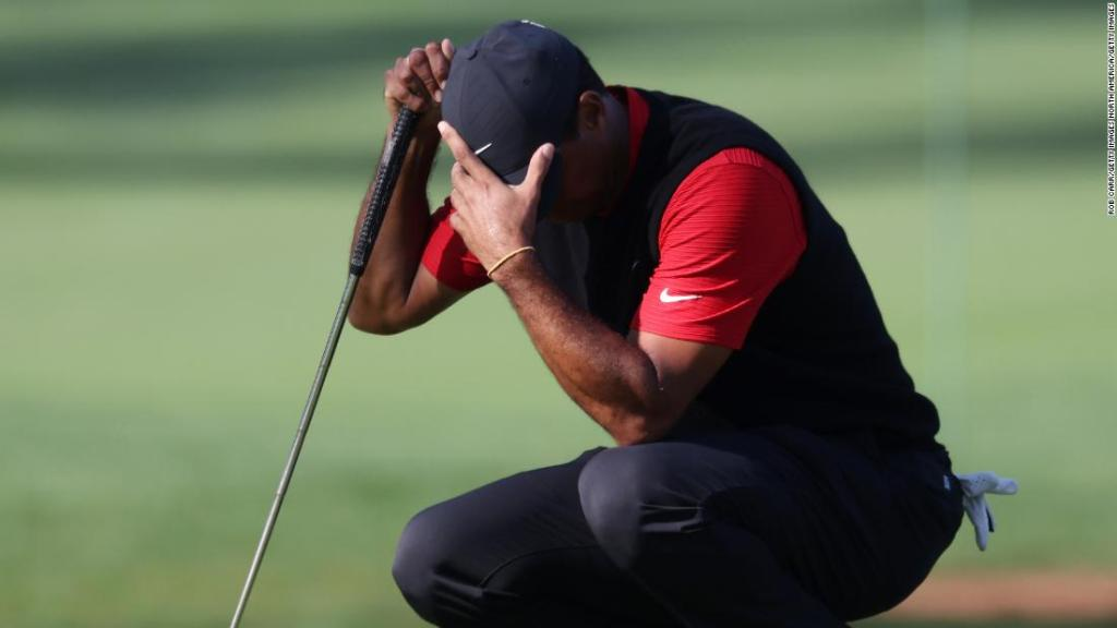Tiger Woods cards 10 on par-three hole at Masters