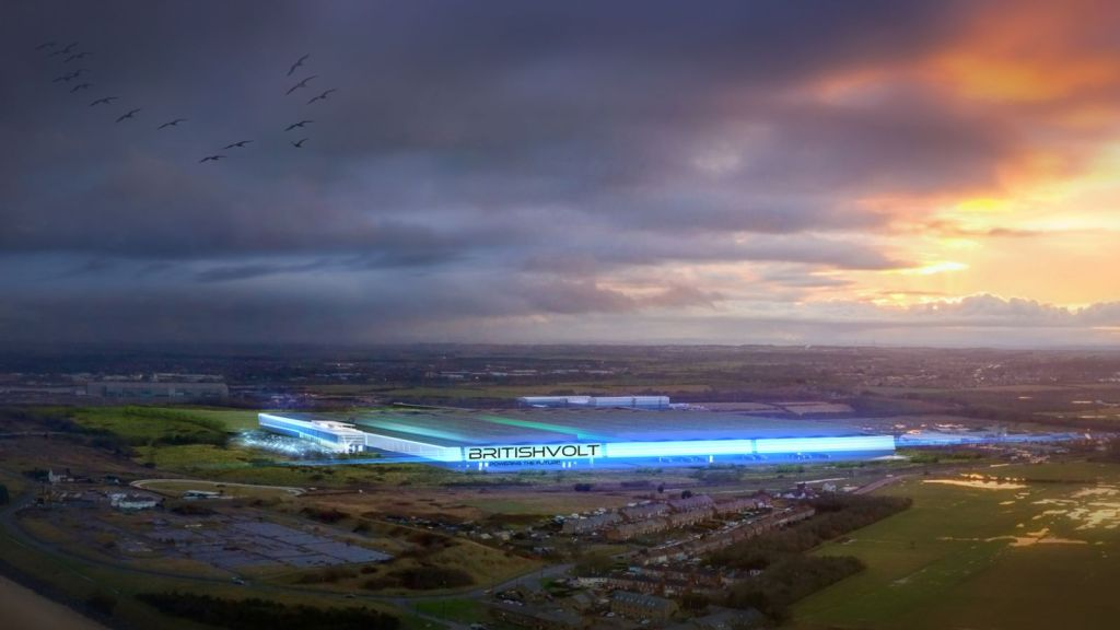 An aerial view of how the Blyth site could look. Pic: Britishvolt