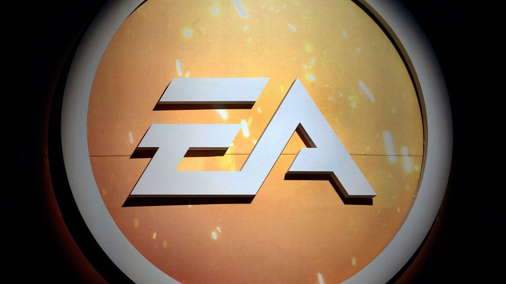 """PARIS, FRANCE - OCTOBER 27: Electronic Arts (EA) logo is seen during the """"Paris Games Week"""" on October 27, 2016 in Paris, France. """"Paris Games Week is an international trade fair for video games to be held from October 27 to October 31, 2016. (Photo by Chesnot/Getty Images)"""