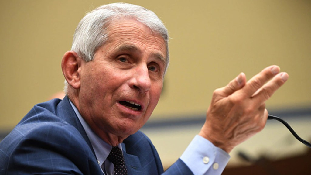 Fauci advises relaxed gatherings in homes for vaccinated individuals, but not 'out in the community'