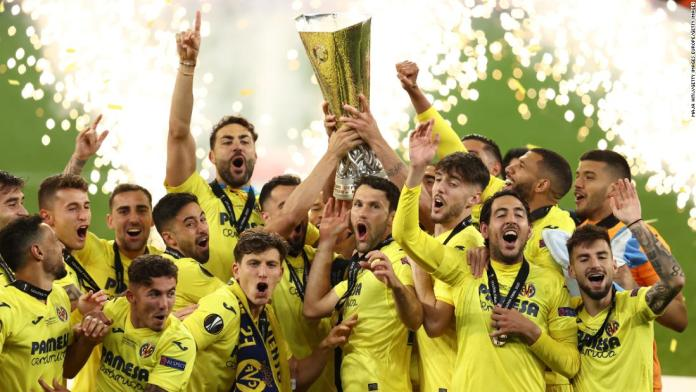 Europa League final: Villarreal defeats Manchester United in dramatic penalty shootout to win first major European trophy