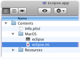 eclipse app packagecontent