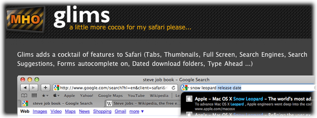 glims for safari