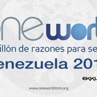 One World Venezuela 2014 Día mundial de la juventud con valores cristianos