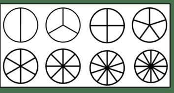 Atelier : les fractions - disques à colorier