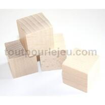 Cubes en bois 3 cm. 30 x 30 x 30 mm lot 20