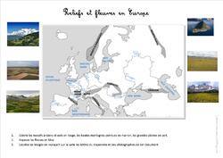 G5 Reliefs et fleuves européens