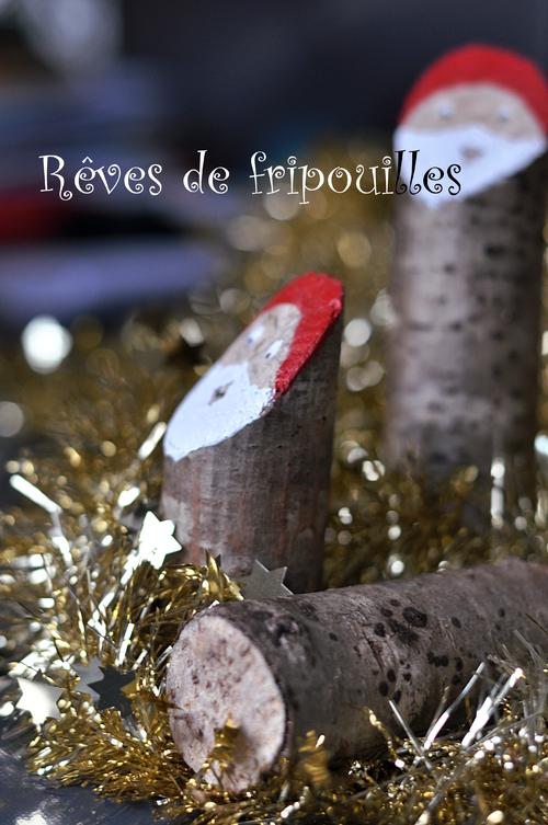 Pères Noël en bois