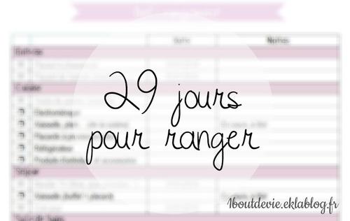 29 jours pour ranger (défi)