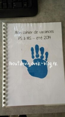 cahier de vacances PS page de garde