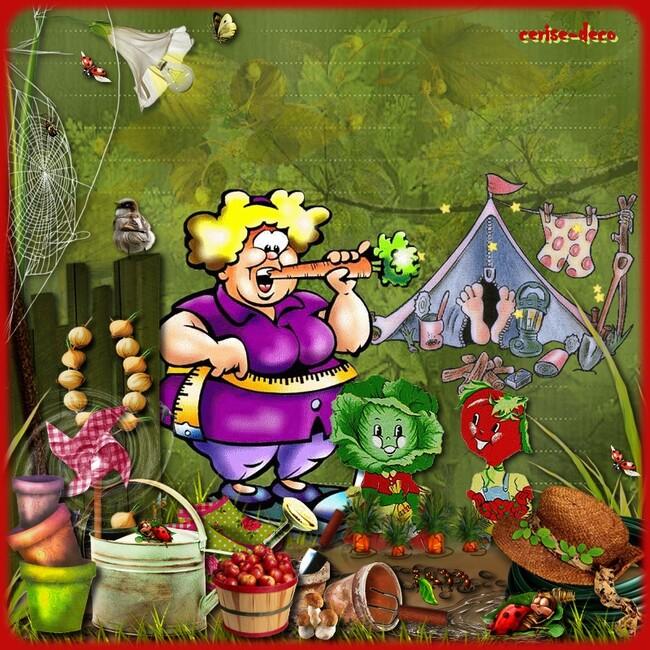 2 gifs jardin pour le défi de babouchka