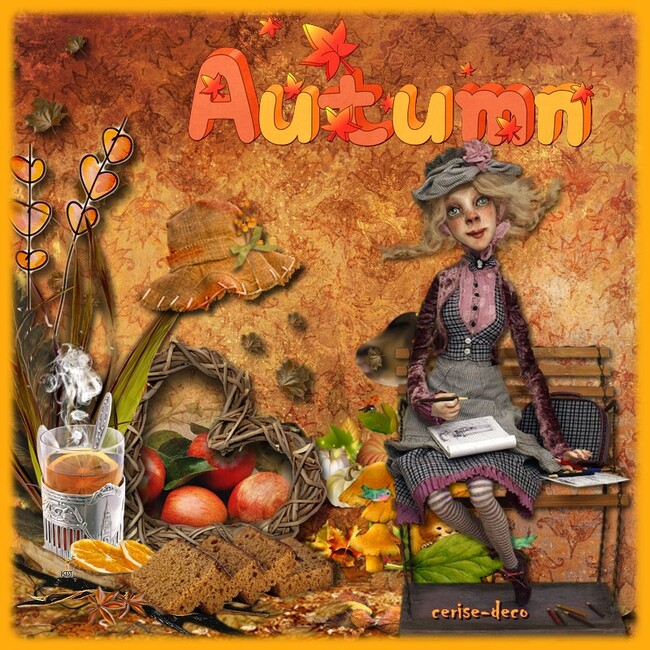 création sur le thème de l'automne pour babouchka