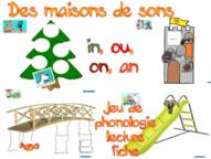 """Jeu de phonologie et de lecture sur les sons """"an, in , on, ou"""""""