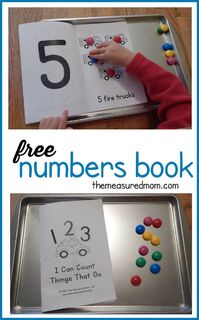 This free counting book is perfect to use alongside a transportation theme in preschool!: