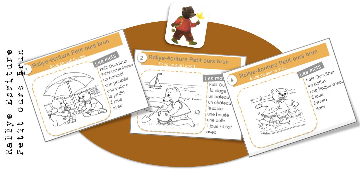Rallyes criture cp ce1 bout de gomme - Petit ours brun piscine ...