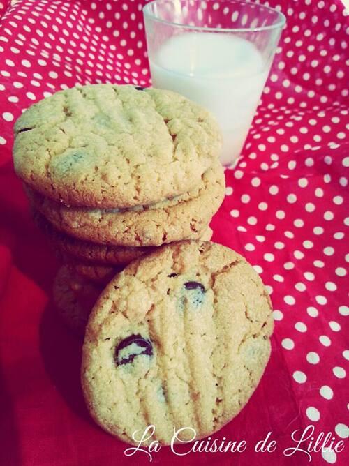 Véritables Peanut Butter cookies..et chocolat