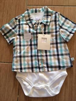 Une petite chemisette avec body intégré Coudémail 44€90