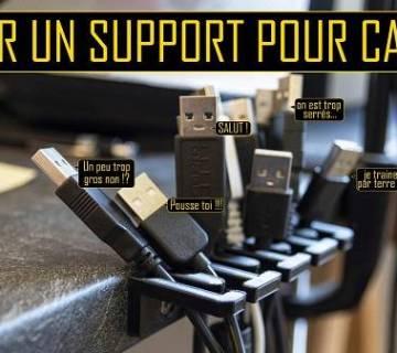 support pour câbles imprimé en 3d