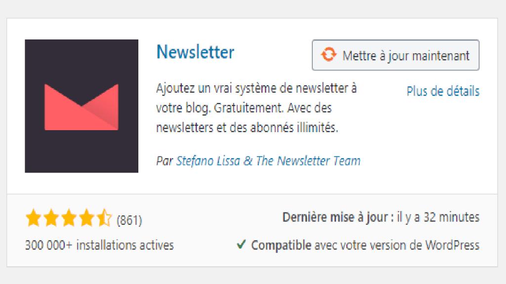 Miniature du plugin wordpress The Newsletter Plugin