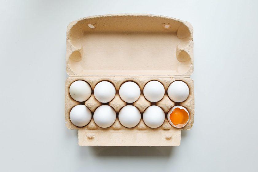 계란 냉장고 보관, 용기 채로