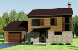 Chelsea custom home concept drawing by EkoBuilt