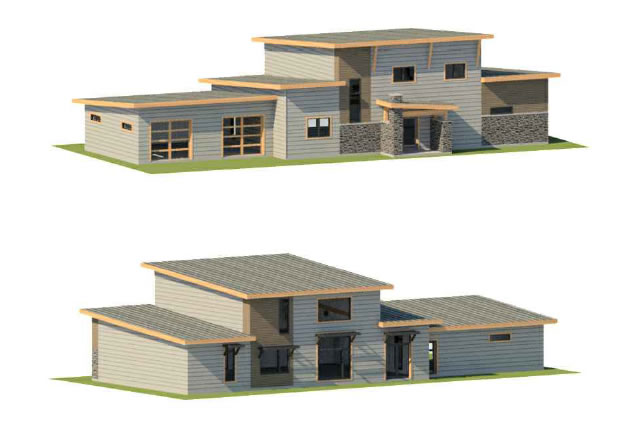 Ottawa Passive House with double car garage