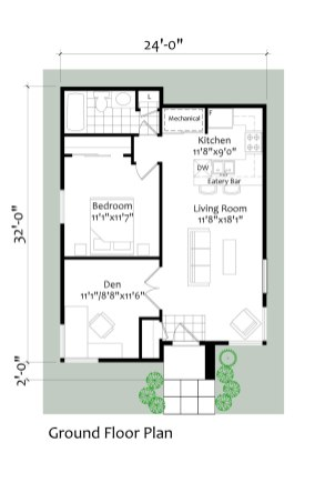 Nepean Point coach house floorplan