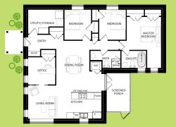 Old Chelsea custom home floorplan by EkoBuilt