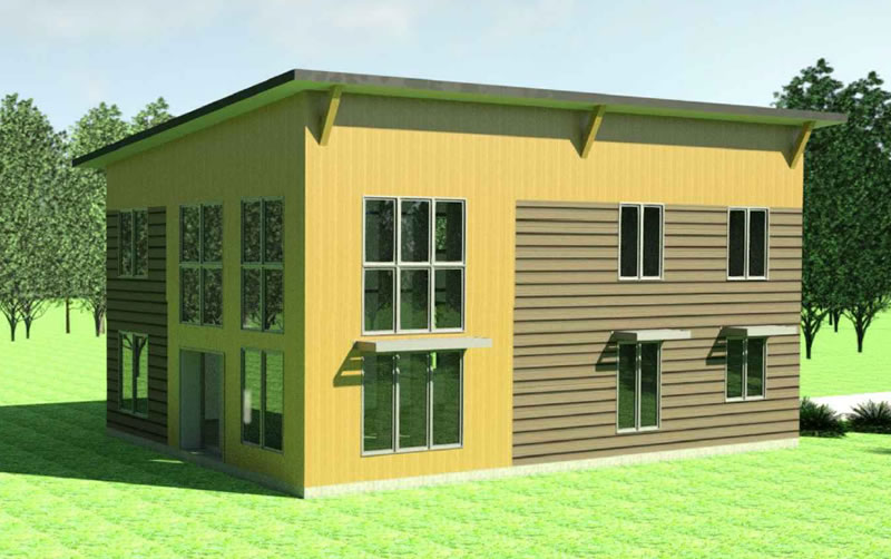 The Stonecrop 2 house plan exterior, a two-storey model