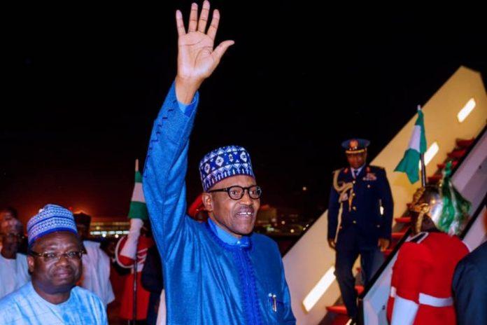 Buhari Returns To Nigeria From UK Summit