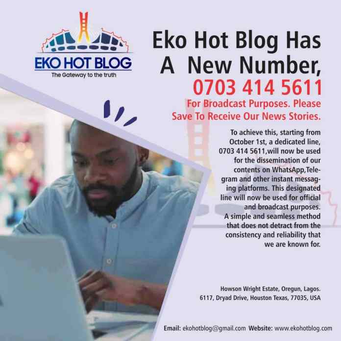 Ekohotblog Has A New Official Number - 07034145611