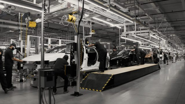 Lucid is already building a final series of production-representative Lucid Air at its factory, leveraging advanced processes such as an aircraft-inspired riveted and bonded monocoque body structure to endow Lucid Air with state-of-the-art structural efficiency. Customer-ordered production cars will start coming off the Arizona line in Spring 2021, with an initial capacity of up to 30,000 units annually growing to 400,000 units in 2028.