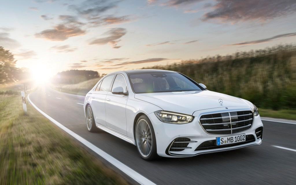 Mercedes-Benz S-Klasse, 2020, Outdoor, Fahraufnahme, Exterieur: Diamantweiß Mercedes-Benz S-Class, 2020, outdoor, driving shot, exterior: diamond white