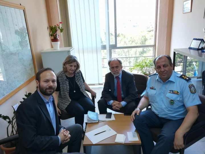 Σύσκεψη των βουλευτών του ΣΥ.ΡΙΖ.Α. με τον Αστυνομικό Διευθυντή Κορινθίας