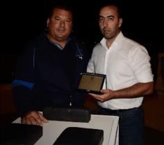 Βράβευση του Πελοποννήσιου δις Παγκόσμιου Πρωταθλητή στο άθλημα της χειροπάλης Γιώργου Χαραλαμπόπουλου