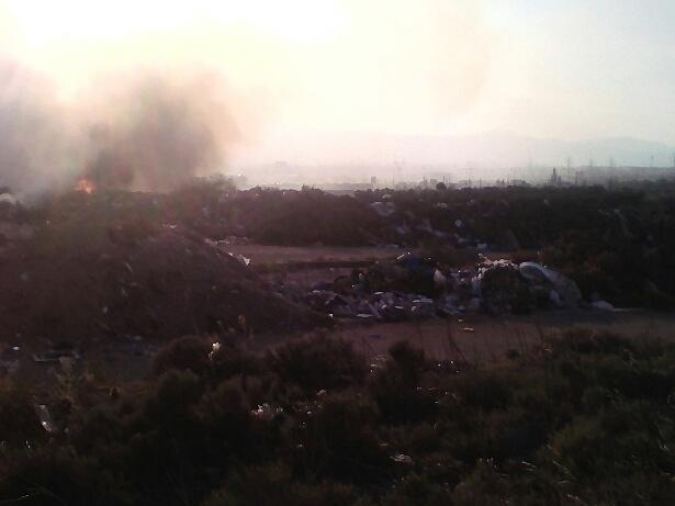Φωτιά στον «κλειστό » σκουπιδότοπο του Πεδίου Βολής