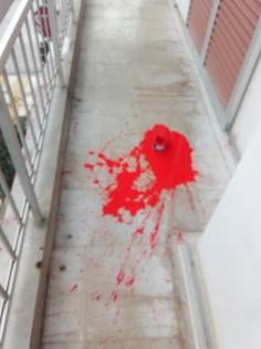 Πέταξαν μπογιές στα γραφεία του ΚΚΕ στην Κορινθο