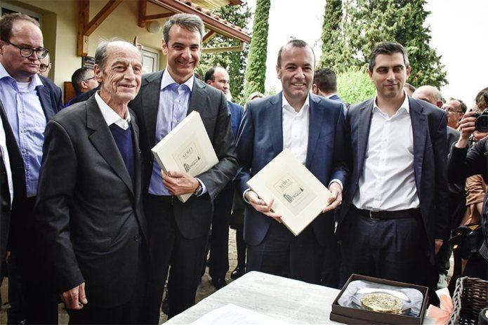 Τη Νεμέα επισκέφθηκαν ο Πρόεδρος της Ν.Δ. & ο υποψήφιος για την προεδρία της Ε.Ε. Μ. Βέμπερ