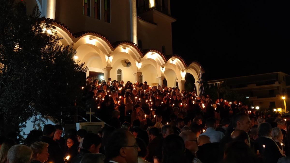 Ανάσταση στον Ι.Ν Αγίου Αναστασίου στο Ναύπλιο